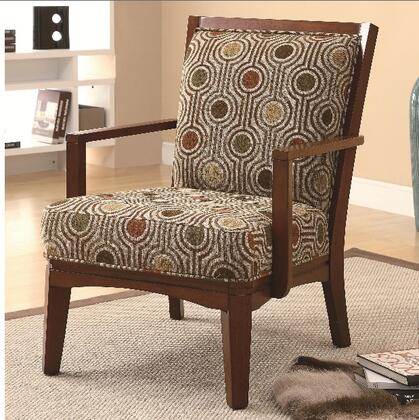 Coaster 902080 Accent Seating Series Fabric Wood Frame Accent Chair