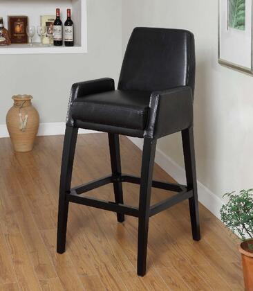 Armen Living LC4049BABL30 Residential Bycast Leather Upholstered Bar Stool