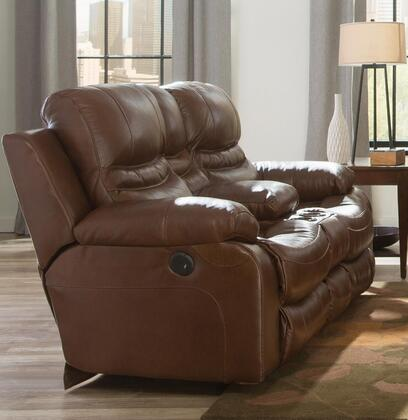 "Catnapper Patton Collection 80"" Lay Flat Reclining Console Loveseat with Cup Holders, Automobile Seat Design, Top Grain Genuine Italian Leather Upholstery"