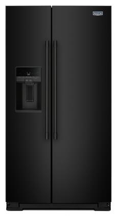 "Maytag MSS26C6MFx 36"" Side-by-Side Refrigerator with 25.59 cu. ft. Capacity, LED Lights, Ice Dispenser, Counter Depth, in"