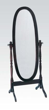 """Acme Furniture Fynn 59"""" Cheval Mirror with Oval Shape, Tilting Feature and Curved Design in"""