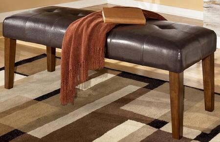 Milo Italia DR17810 Joeann Series Kitchen Armless Wood Faux Leather Bench