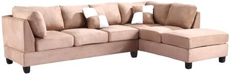 Glory Furniture G634BSC G630 Series Stationary Suede Sofa
