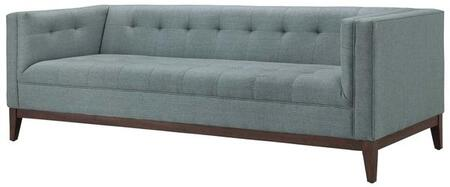 EdgeMod EM226WALLGR Huntington Series Stationary Fabric Sofa