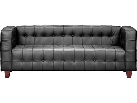 Zuo 900250 Button Series Stationary Leather Sofa