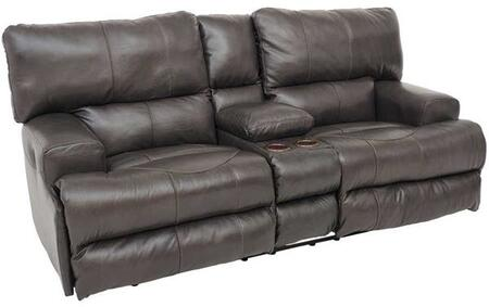 Catnapper 64589128309308309 Wembley Series Leather Reclining with Metal Frame Loveseat