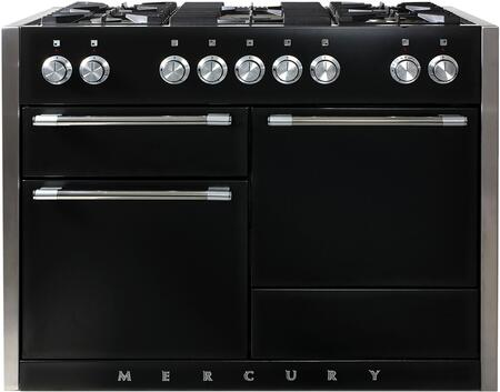 "AGA AMC48DF 48"" Freestanding Dual Fuel Range with 5 Sealed Brass Burners, 17K BTU Power Burner, Continuous Enamel Coated Grates, Infinite Style Burner Controls, Three Ovens, 8-Pass Broiler (Main Oven) and Extendable Gliding Tray, in"