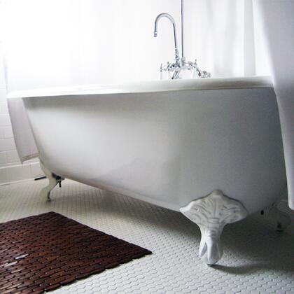 "Cambridge DE607DH Cast Iron Double Ended Clawfoot Tub 60"" x 30"" with 7"" Deck Mount Faucet Drillings"