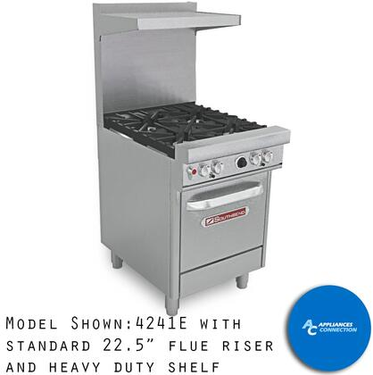 "Southbend 4241 Ultimate Range Series 24"" Gas Range with Four Standard Non-Clog Burners and Four Standard Cast Iron Grate, Up to 132000 BTUs (NG)/96000( LP)"