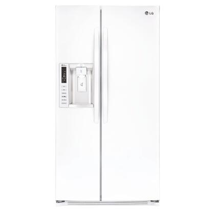 "LG LSXS26326W 36""  Side by Side Refrigerator with 26.2 cu. ft. Capacity in White"