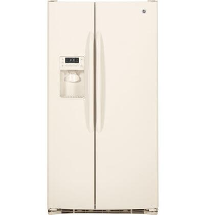GE GSHF3KGZCC  Side by Side Refrigerator with 23.2 cu. ft. Capacity in Bisque