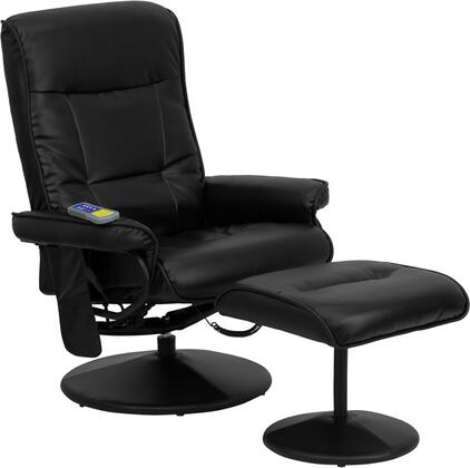 Flash Furniture BT7320MASSBKGG Shoulders, Back, and Seat & Thighs Heat Massage Chair