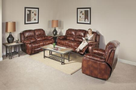 Novo Home 70602RR Ventura Series Leather Stationary with Wood Frame Loveseat