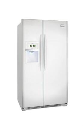 Frigidaire FGHS2669KP Gallery Series Side by Side Refrigerator with 26 cu. ft. Capacity in Pearl Black