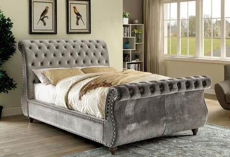 Furniture of America CM7128GYEKBED Noella Series  Eastern King Size Bed