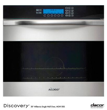 """Dacor Discovery MO127S 27"""" Single Electric Wall Oven with 3.7 cu. ft. Convection Oven, RapidHeat Bake/Broil Element and Sabbath Mode:"""
