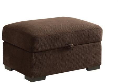 "Coaster Olson 32.5"" Storage Ottoman with Rectangular Shape, Pocket Coil Seating, Hidden Storage, Wooden Legs and Fabric Upholstery in"