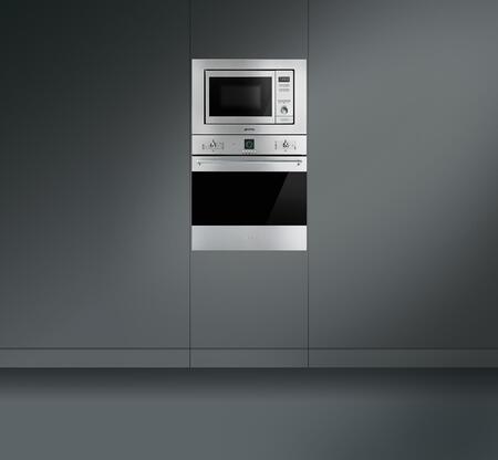 Smeg mi20xu 24 inch built in microwave oven in stainless for Built in microwave oven 24 inch
