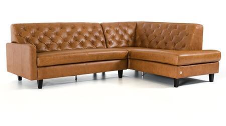 VIG Furniture VGCA1509ANGBRN Divani Casa Kyler Series Stationary Leather Sofa