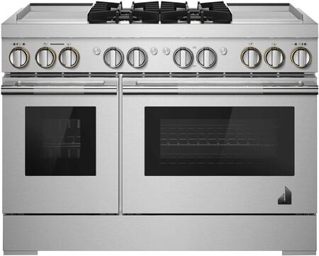 Jenn-Air Rise JDRP848HL 48-INCH DUAL-FUEL PROFESSIONAL RANGE WITH GRIDDLES