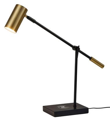 Adesso Collette Collection 4217-X2 Charge LED Desk Lamp with USB Port on Base, Touch Switch on Shade and Qi Inductive Pad in