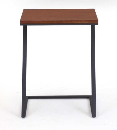 Tag 206842 Foster Series Wood and Metal Rectangular None Drawers End Table