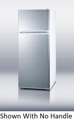 Summit FF1062WSSTB  Counter Depth Refrigerator with 9.41 cu. ft. Capacity in Stainless Steel