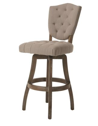 Pastel Furniture QLPP219 Philadelphia Bar Height Swivel Barstool in Gray