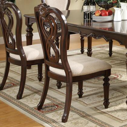 Coaster 102972 Linwood Series Traditional Fabric Wood Frame Dining Room Chair