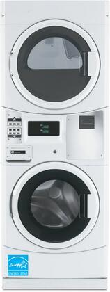 Maytag Commercial MLx20PRCx Energy Star Rated Commercial Stack Washer And Dryer with 3.1 cu. ft. Washer, 6.7 cu. ft. Dryer, TurboVent Dryer Technology, High Speed Extraction and Microprocessor Controls, in White