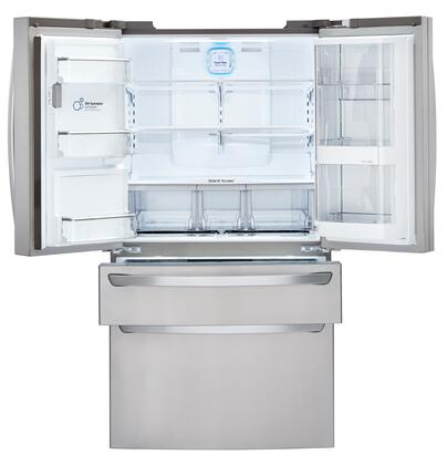 LG LMXS30776S 36 Inch French Door Refrigerator, in Stainless