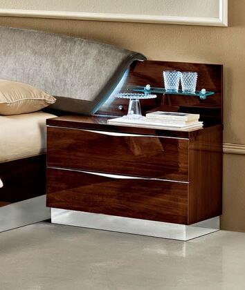 "ESF Onda Collection 30"" Maxi Nightstand with 2 Drawers, Made in Italy and Wood Construction in"