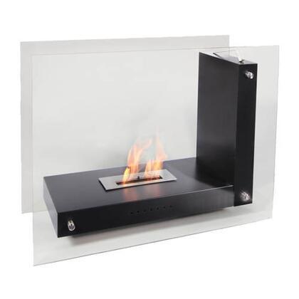 Bio Flame ALLFTBK Allure Series Vent Free Bioethanol Fireplace