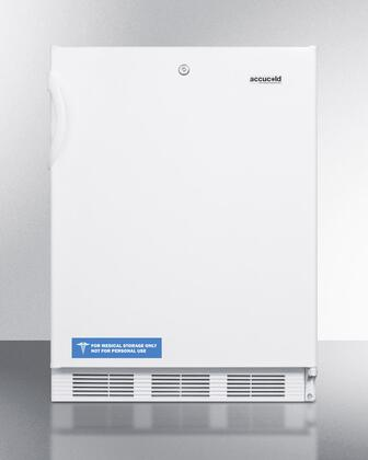 """Summit VT65ML7ADX 24"""" ADA Compliant Medical Use Freezer with 3.5 cu. ft. Capacity, Factory Installed Lock, Adjustable Thermostat, Three Slide-Out Drawers, and -25 Degrees C Capable in White: X Hinge"""