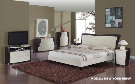 Global Furniture USA NEWYORKWBQBG New York Series 5 Piece Bedroom Set