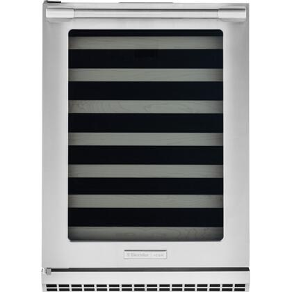 Electrolux Icon E24W50QS Professional Under-Counter Wine Cooler with PureAdvantage Air Filtration, UV Filtered Glass Door, Signature Blue LED Display and 48-Bottle Capacity, in Stainless Steel
