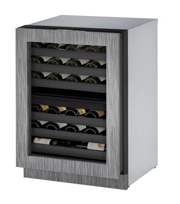 """U-Line U-3024ZWC 24"""" Wine Captain with 4.7 cu. ft. Capacity, Dual Zones, LED Lighting, Four Cooling Modes, 4 Leveling Legs, and U-Select Control"""
