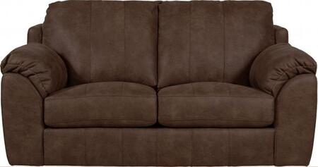 """Jackson Furniture Sullivan Collection 3188-02- 76"""" Loveseat with Faux Leather Fabric Upholstery, Decorative Double Needle Luggage Stitching and Saddle Bag Arms in"""