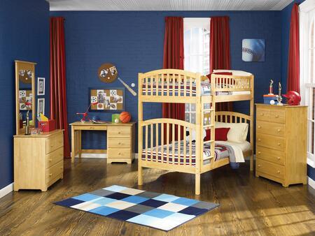 Atlantic Furniture YBBRICHMONDTWINTWINNM Richmond Series  Twin Size Bunk Bed