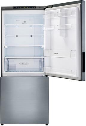 LG LBNC15221V 28 Inch Counter Depth Bottom Freezer Refrigerator, in