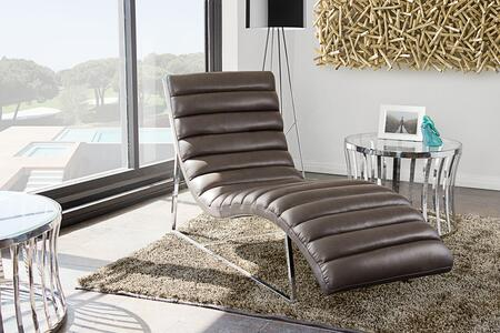 Diamond Sofa BARDOTCAEG Bardot Series Modern Bonded Leather Metal Frame Chaise Lounge