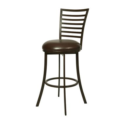 Pastel Furniture QLYK222 Yorkshire Bar Height Swivel Barstool in Brown