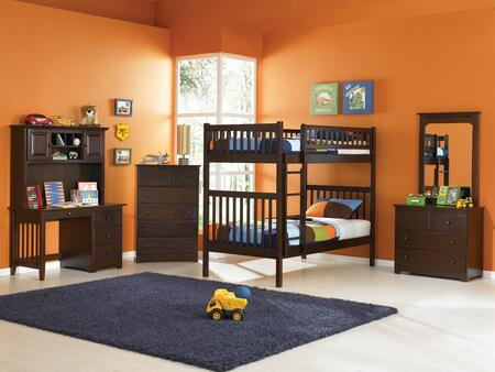 Atlantic Furniture YBBARIZONATWINTWINALAW Arizona Series  Twin Size Bunk Bed