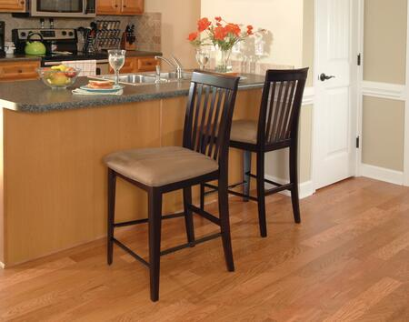 Atlantic Furniture MONTREALPCCC Montreal Collection Set of 2 Pub Chairs with Cappuccino Seat Cushions: