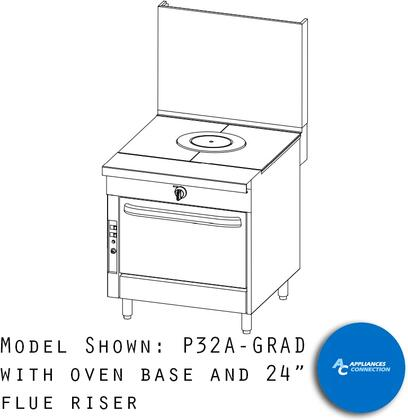 """Southbend P32GRAD Platinum Series 32"""" Graduated Hot Top with a Standard Burner and Battery Spark Ignition, Up to 62000 BTUs (NG)/42000 BTUs (LP)"""