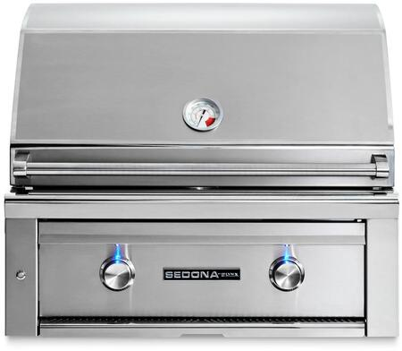 "Lynx L500PS 30"" Sedona Series Built-In Grill with 1 Burner, 1 ProSear Burner, 733 sq. in. Cooking Surface, and Blue LED Controls, in Stainless Steel"