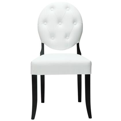 Modway EEI815WHI Modern Vinyl Wood Frame Dining Room Chair