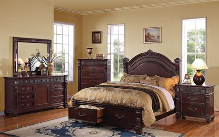 Acme Furniture 20497EK6PCSET Vevila King Bedroom Sets
