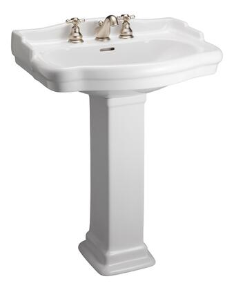 Barclay 3858WH White Bath Sink