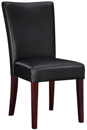 Powell 749833 Classic Seating Series Traditional Bonded Leather Wood Frame Dining Room Chair